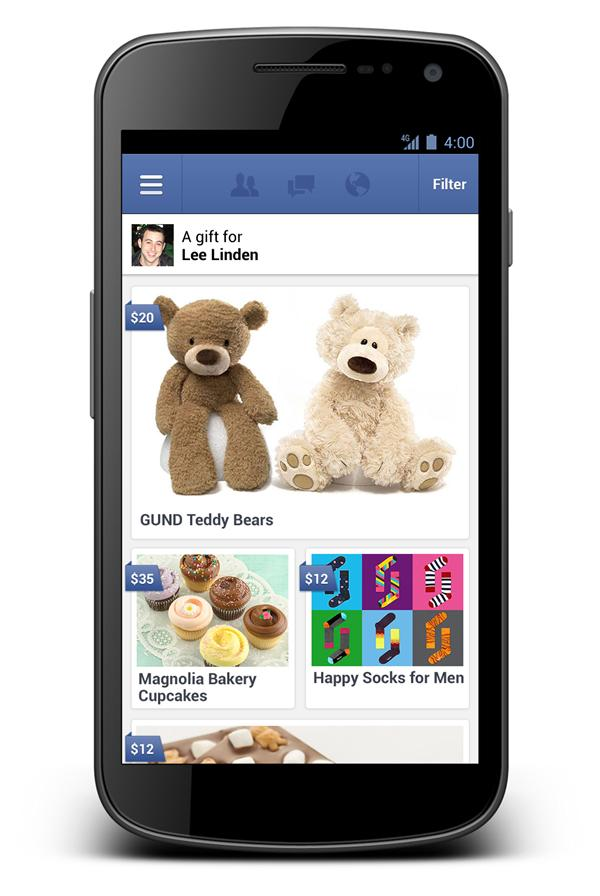 "Facebook Introducing ""Real"" Gifts"