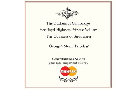 MasterCard's 'Priceless' Gets Royal Twist