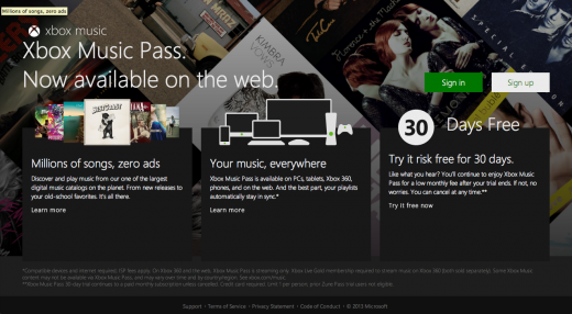 Microsoft unveils Xbox Music on the web