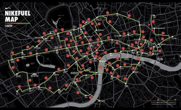 NikeFuel Map encourages Londoners to get off the Tube and walk