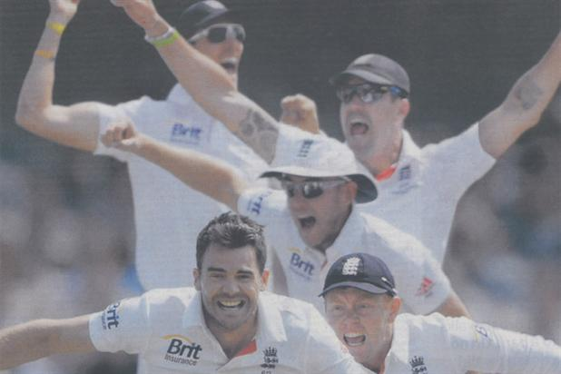 Jaguar celebrates England's Ashes victory
