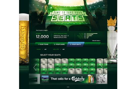 Carlsberg Launches Live Data-Powered Fan Site