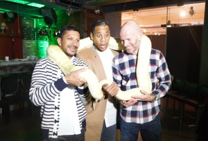 Raoul Shah and Tim Bourne Joint CEOs with celeb guest Reggie Yates
