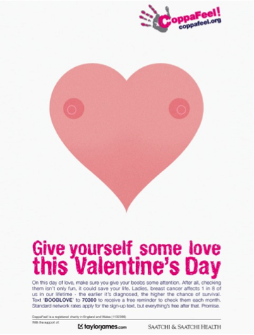 Give yourself some love this Valentine's Day and CoppaFeel!