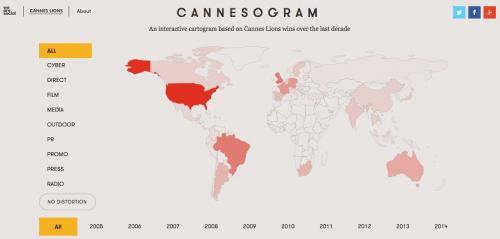 We Are Social redraws the globe, according to Cannes