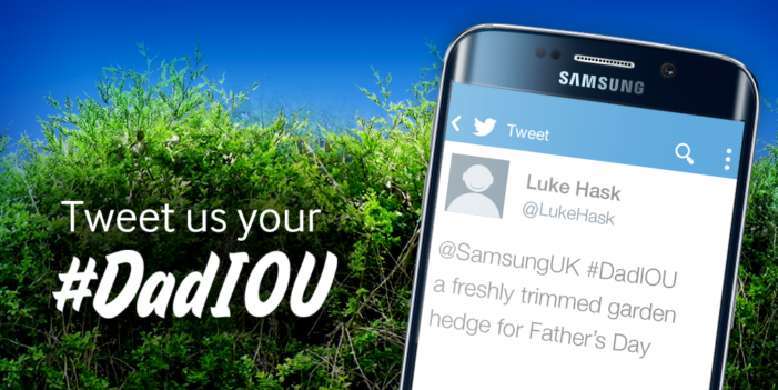 Samsung & Cheil UK create personalised IOU's for Twitter users in Father's Day campaign