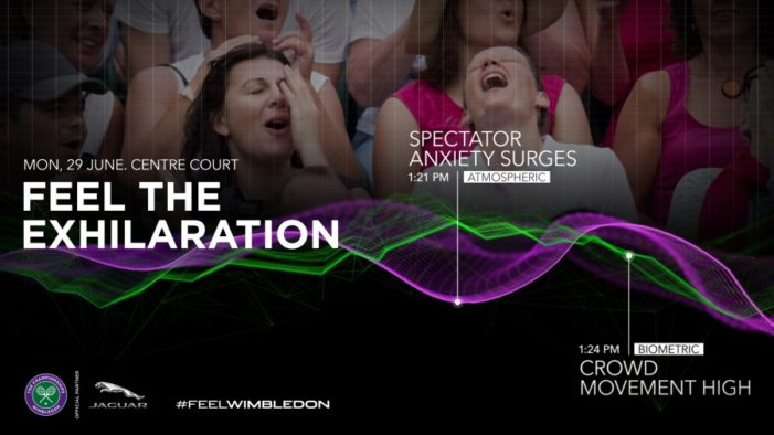 Jaguar serves #FeelWimbledon campaign using real time mood analysis