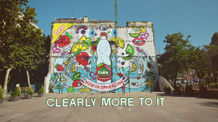 Clearly More To It – Volvic launches animated street art ad
