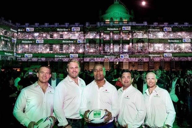 Heineken transforms London landmark into a virtual rugby stadium to celebrate World Cup