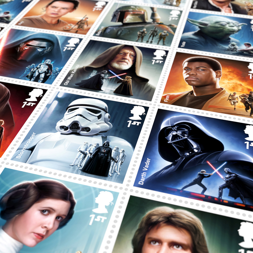 MALCOLM TWEEN ROYAL MAIL STAR WARS STAMPS