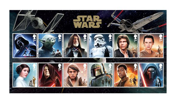 Royal Mail celebrates new Star Wars movie by releasing flurescent ink stamp set
