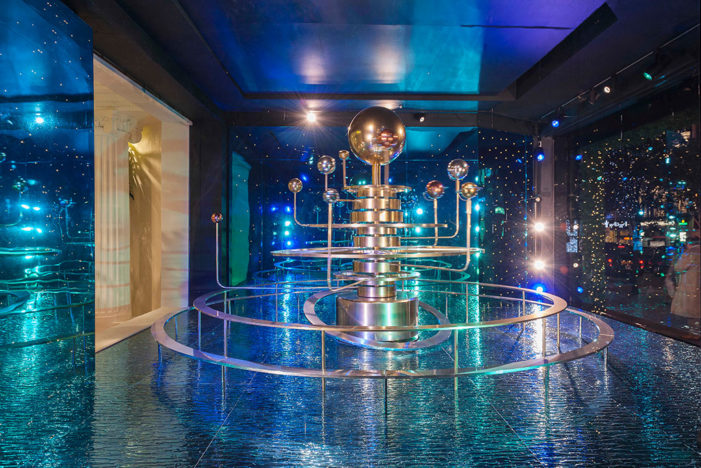 Artem SFX shoots for the stars with moving model of solar system for Christmas at Selfridges