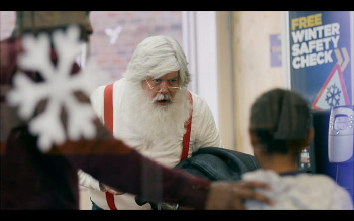 Santa gets his sleigh checked ready for Christmas in new Kwik Fit ad