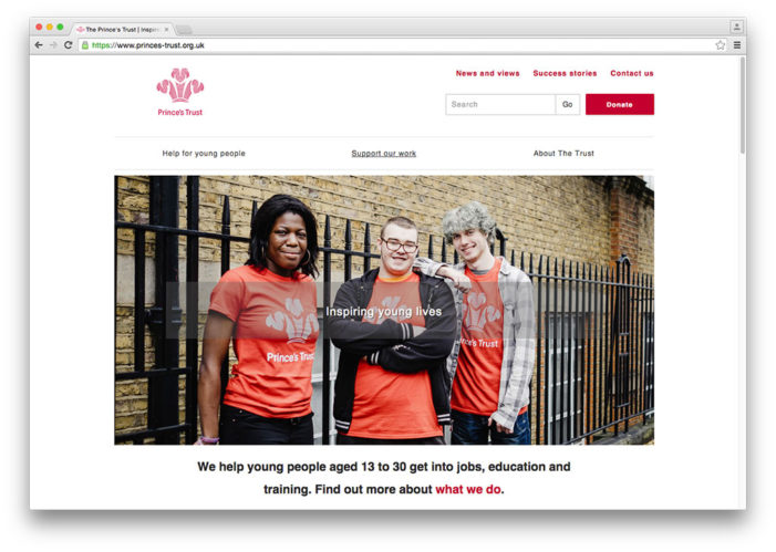 The Prince's Trust launches new logo and website to engage young people and supporters