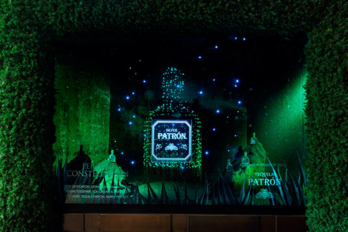 Patrón Tequila takes over window display at Selfridges in a Christmas sales drive, created by launch agency Five by Five