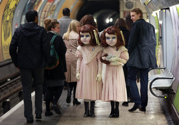 Thorpe Park spook commuters to promote new 2016 attraction from the mind of Derren Brown