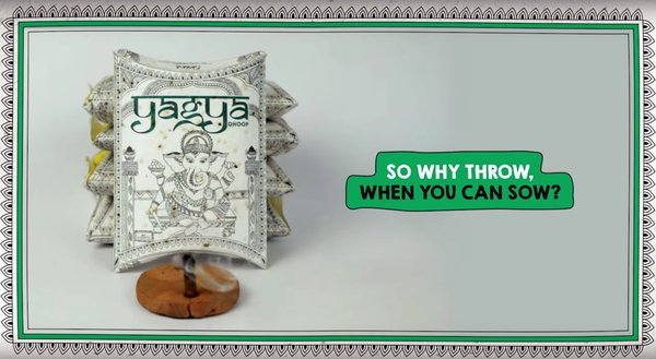 Dentsu Webchutney India and Helpusgreen turn religious incense packaging into seed paper