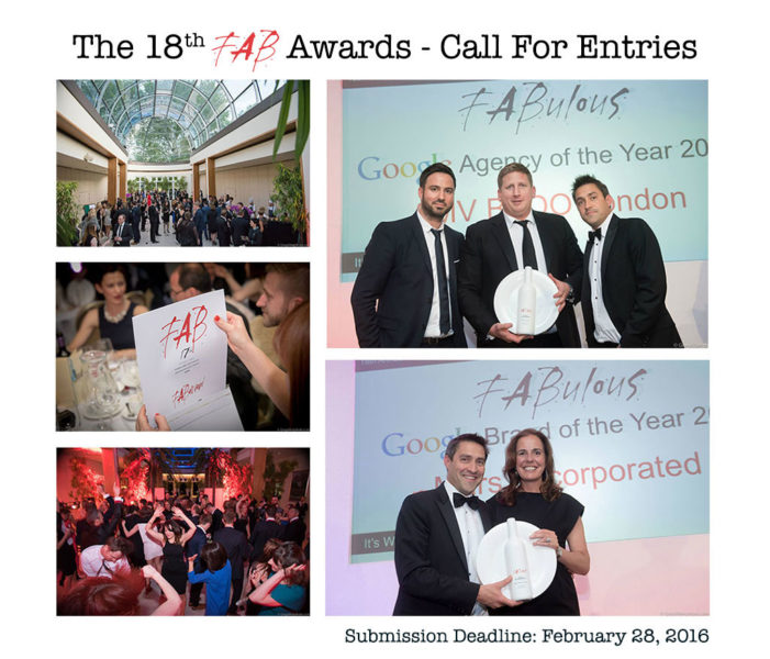 The 18th FAB Awards Are Open For Entries!