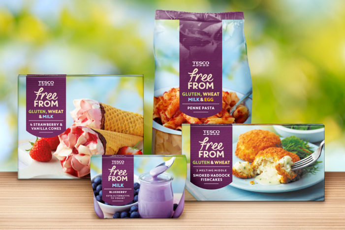 Tesco Free From range starts 2016 with new look and feel developed by Coley Porter Bell
