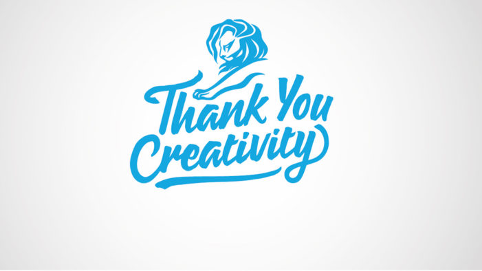 Cannes Lions Says 'Thank You Creativity' for 2016 Campaign