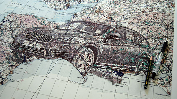 FCB Inferno & Illustrator Ed Fairburn Turn a Map Into Art for BMW