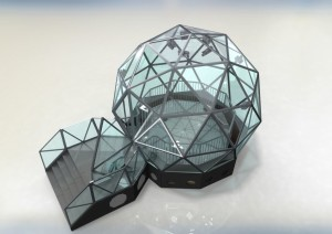 Digital Render Artem SFX design and build iconic glass dome for the return of The Crystal Maze