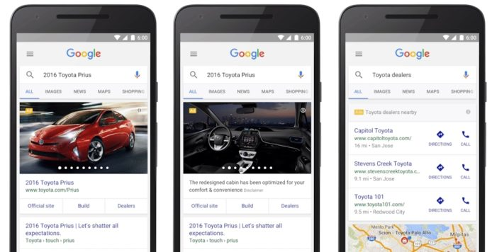 Google Accelerates Car Buying from Search with Automotive Ads