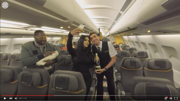 360º Virtual Reality Thomas Cook Airlines Fantasy Flight