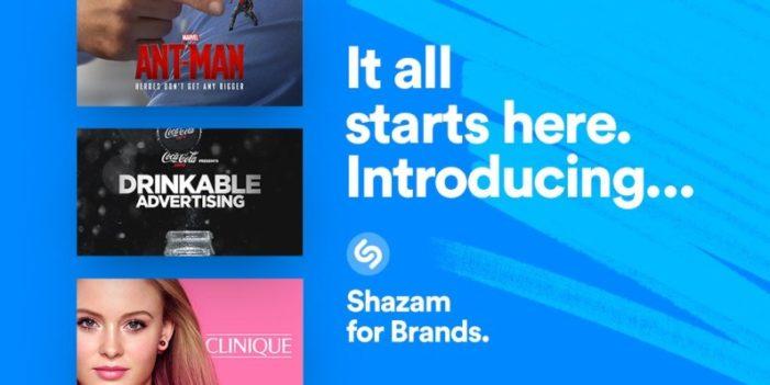 Shazam Announces a New Initiative Built for Advertisers: Shazam for Brands