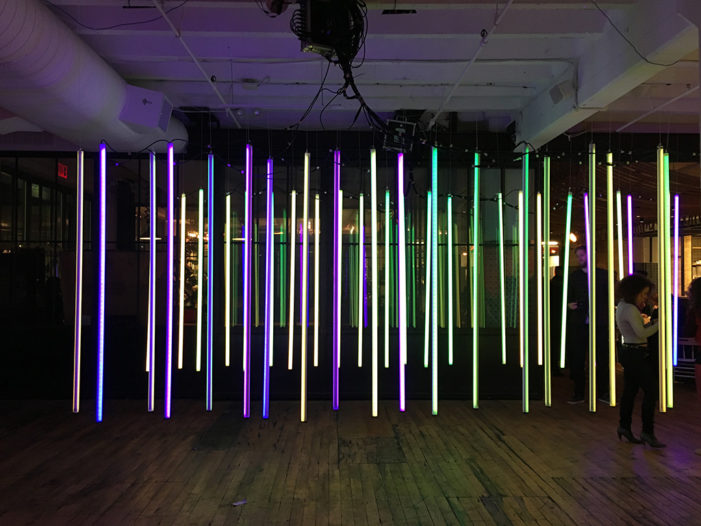 Circus Family creates interactive light installation for New York Design Week