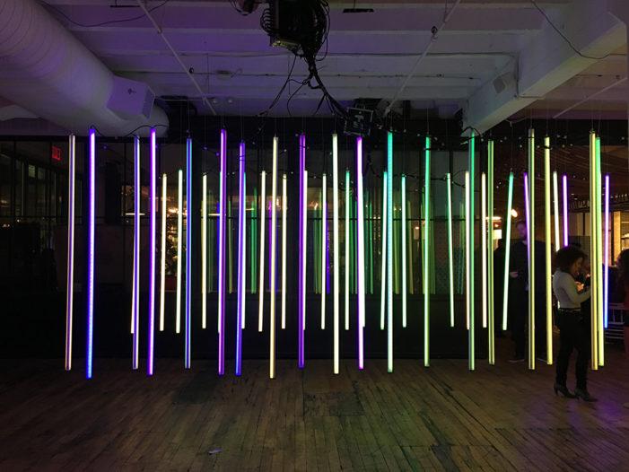 Circus Family creates interactive light installation for New York Design Week