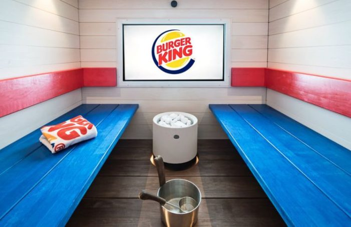 Burger King opens up probably the world's first fast food sauna