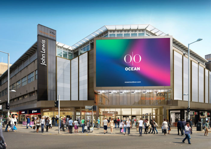 intu and Ocean Outdoor partnership to engage Nottingham shoppers with giant digital screen