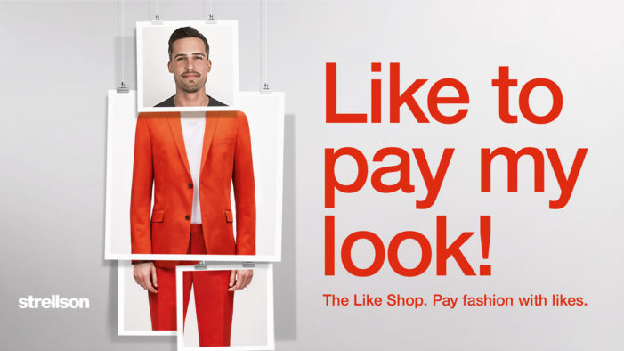 "Strellson launches the first online ""Like Shop"""