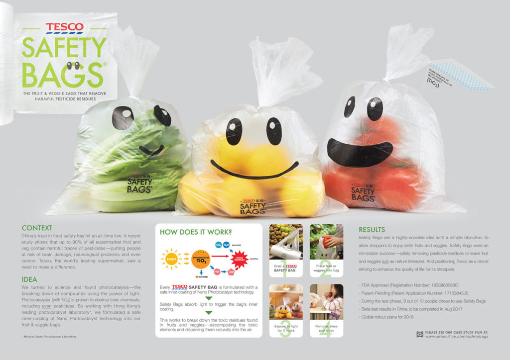 New Food Safety Bags by Cheil Worldwide Trialled by Tesco
