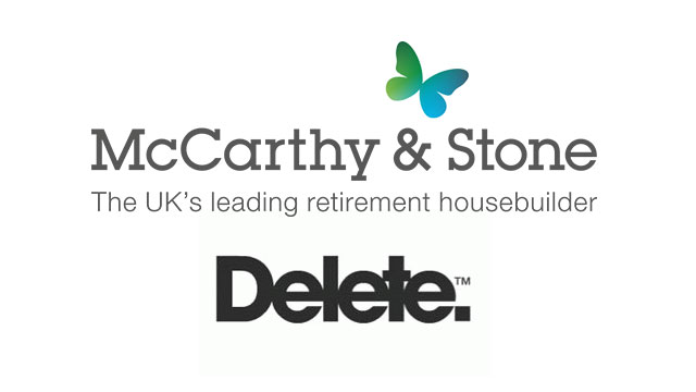 Retirement housebuilder McCarthy & Stone appoints Delete for Search and Display Marketing