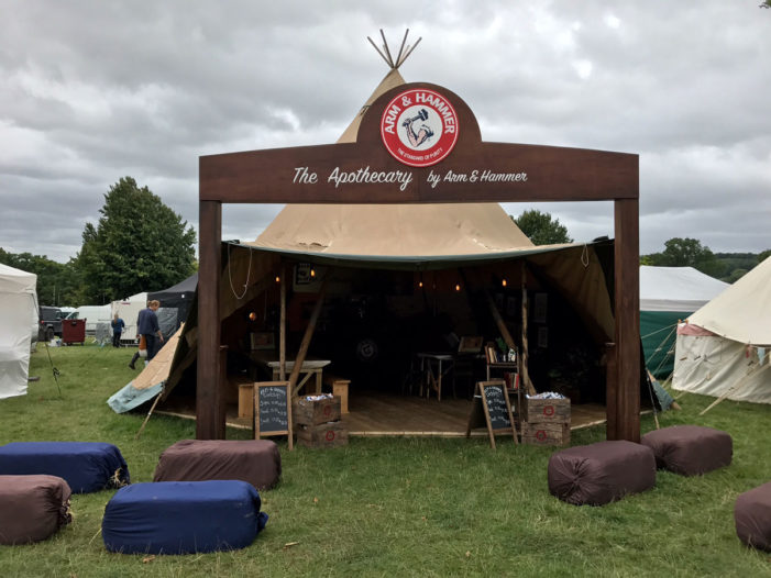 "Arm & Hammer launches ""apothecary tent"" experiential campaign at Wilderness Festival"