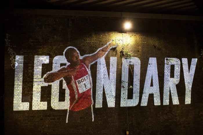 Usain Bolt Celebrated as #ARunningLegend by Virgin Media