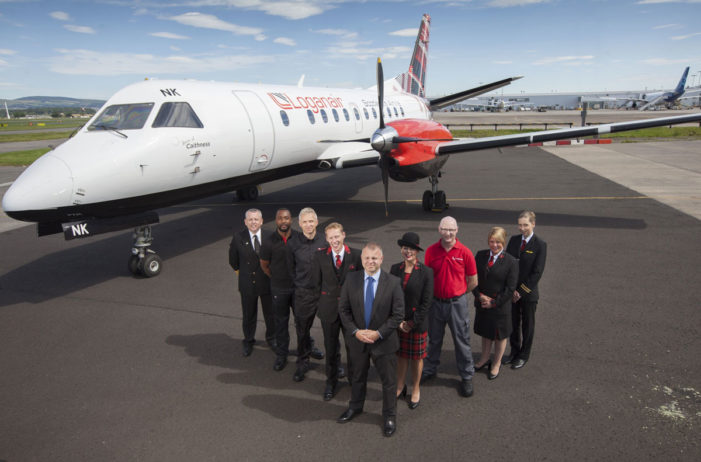 Scottish airline Loganair unveils new tartan look