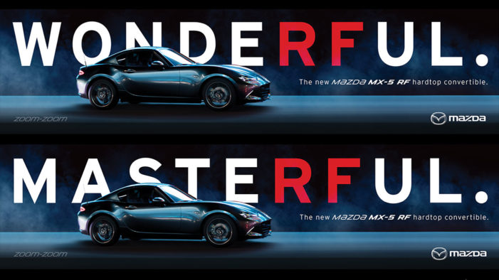 Mazda drives awareness of new MX-5 RF roadster with OOH campaign by Antidote
