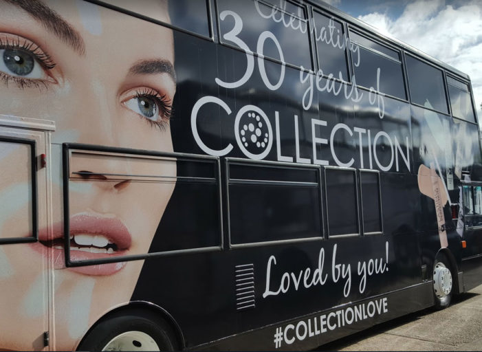 Cosmetic brand Collection celebrates 30 years with birthday tour bus