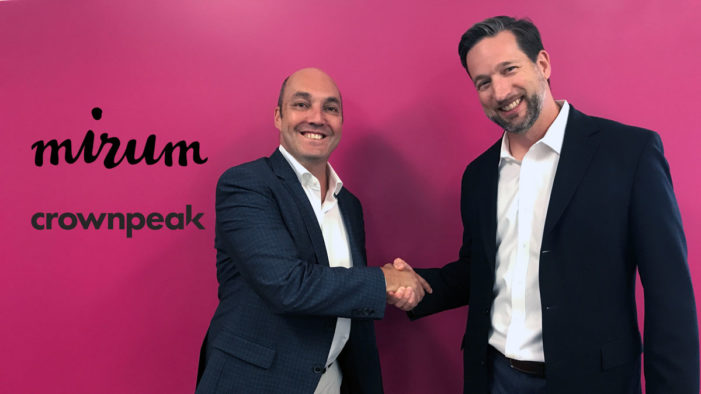 Mirum Becomes Crownpeak's First Global Partner