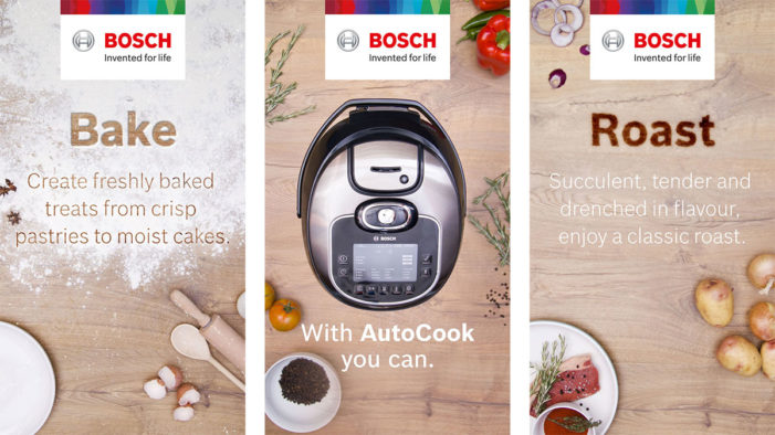 Bosch brings Autocook recipes to life with its first Facebook Canvas campaign