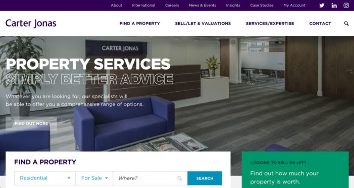 Delete unveils fresh customer-centric digital presence for property services leader Carter Jonas