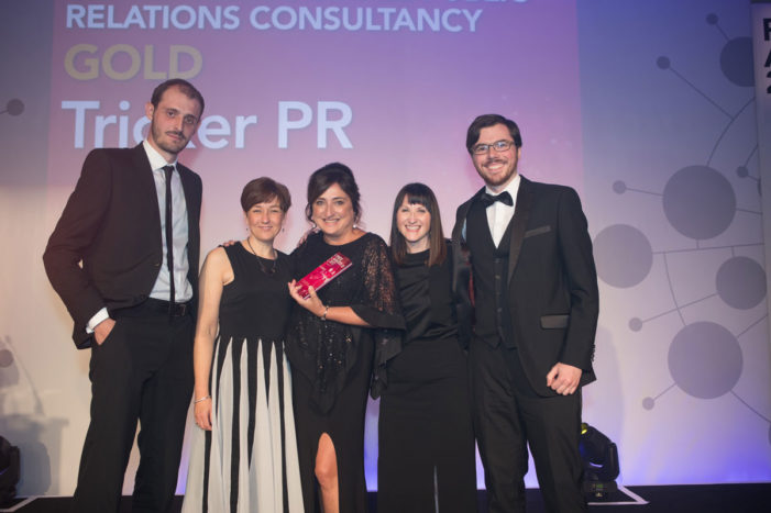 Tricker PR finds outstanding success at the CIPR PRide Awards