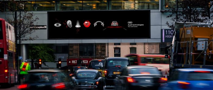 Audi Unleashes Tactical, Data-Driven Roadside Campaign to Promote Intelligent and Intuitive Car Technology