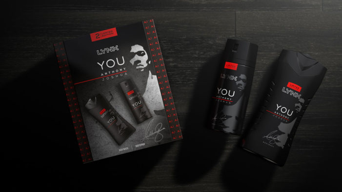 PB Creative unveils an iconic look for the new Lynx limited-edition range with boxing champion Anthony Joshua