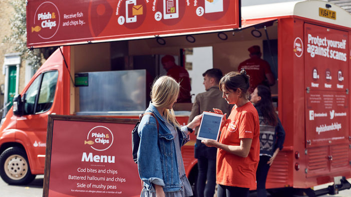 Santander's 'Phish & Chips' Van Delivers Tips To Avoid Phishing Scams