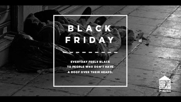 Mercieca creates Black Friday campaign to drive donations to Shelter from the Storm