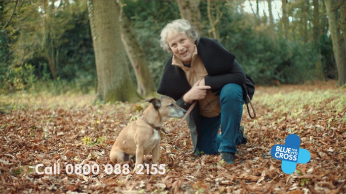 Pet charity Blue Cross airs first Legacy TV ad fronted by pledger and actress Pam Ferris